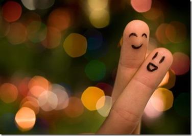 ステキなカップル。でも指なんですけど(笑