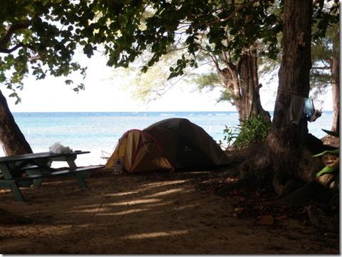 ビーチのキャンプ場。