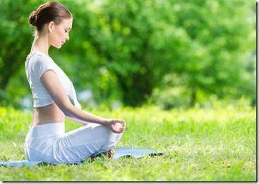 瞑想中。うふ。それっぽいでしょ?