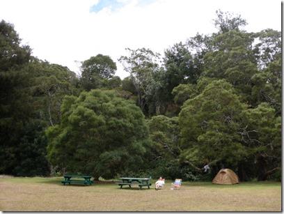 山の中のキャンプ場。ほぼ貸切状態。